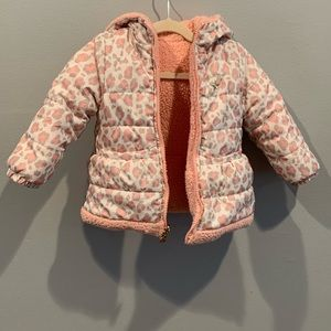 OshKosh B'gosh reversible pink puffer coat 24 mo.